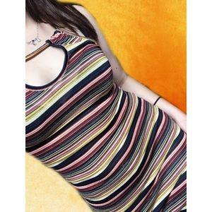 Zara Trafaluc Striped Halter Maxi Dress